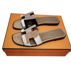 Hermès-Hermès sandals Oran-Multiple colors,Beige