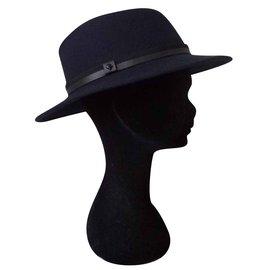 The Kooples-Chapeau / panama / borsalino-Bleu Marine