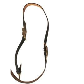 Golden Goose Deluxe Brand-ceinture fine en cuir Golden Goose-Gris