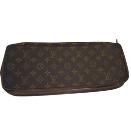 Louis Vuitton-tie pocket-Brown