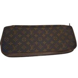 Louis Vuitton-pochette à cravatte-Marron