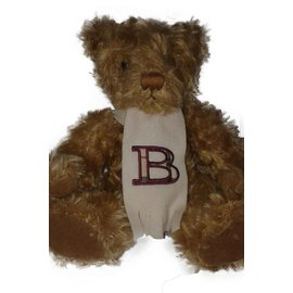 Burberry-Beautiful Burberry plush toy with scarf-Beige