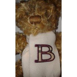Burberry-Magnifique doudou peluche Burberry avec écharpe-Beige