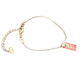 Christian Dior-Bracelet Christian Dior-Rouge,Doré