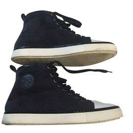 Hermès-Boots-Navy blue