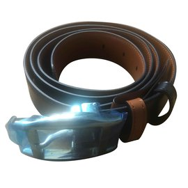 Cartier-Turtle Belt-Caramel,Dark blue