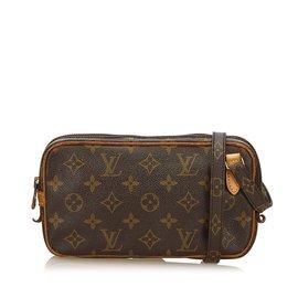 Louis Vuitton-Monogram Marly Bandouliere-Brown ... 18db904a713b