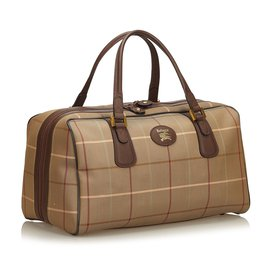 Burberry-Haymarket Check Jacquard Travel Bag-Brown,Multiple colors