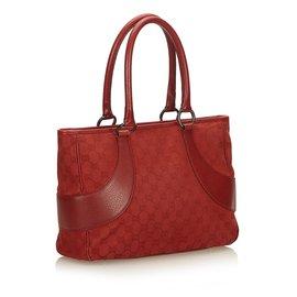 Gucci-Guccissima Canvas Sac à main-Rouge