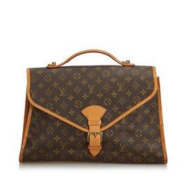 Louis Vuitton-Monogram Beverly Briefcase GM-Brown