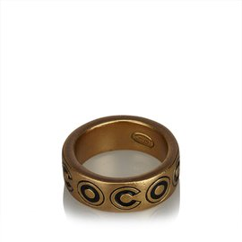 Chanel-Gold-Toned Ring-Golden