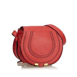 Chloé-Bandoulière en cuir marie-Rouge
