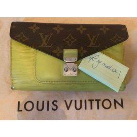 Louis Vuitton-portefeuilles-Vert