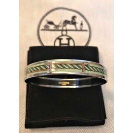 Hermès-Bracelet émail Hermès-Vert clair