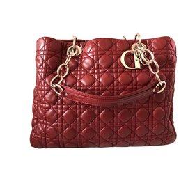 Dior-Shopping tote bag-Bordeaux