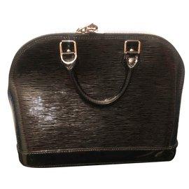 Louis Vuitton-ALMA cuir verni-Noir