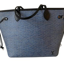 Louis Vuitton-Neverfull MM Epi Bleu denim-Bleu