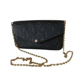 Louis Vuitton-Pochette monogram empreinte Felicie-Noir
