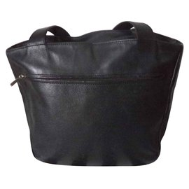 Longchamp-SAC A MAIN CUIR-Noir