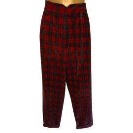 Ralph Lauren Blue Label-Pantalons, leggings-Rouge,Vert foncé