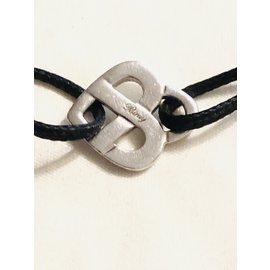 Poiray-Bracelet infini cœur Poiray-Noir,Argenté