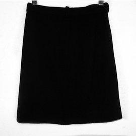 Chanel-CHANEL  A-LINE SKIRT-Black