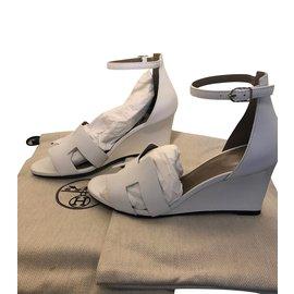 Hermès-Hermes Legend sandal-White