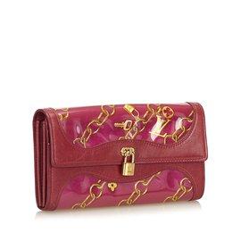 Louis Vuitton-Charm Line Bifold Long Portefeuille-Rose