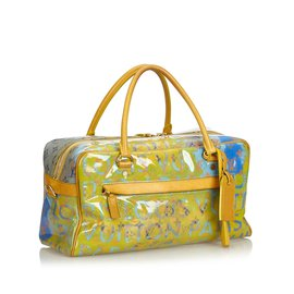 Louis Vuitton-Monogram Pulp Line Weekender PM-Multicolore,Vert,Vert clair