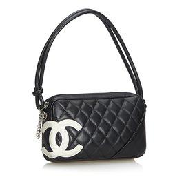 Chanel-Cambon Ligne Pochette-Noir,Blanc