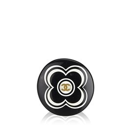 Chanel-Bague Camélia-Noir,Blanc