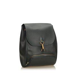 Louis Vuitton-Sac à dos Cassiar en cuir Taiga-Vert,Vert foncé