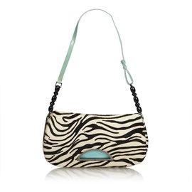 Dior-Zebra Print Malice Ponyhair-Noir,Blanc,Écru