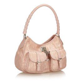 Dior-Joli sac à bandoulière jacquard-Rose
