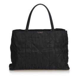 Dior-cabas en nylon matelassé-Noir