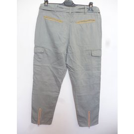 Autre Marque-Pantalons, leggings-Kaki
