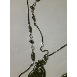 Gas-Long necklaces-Silvery