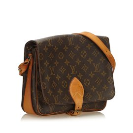 Louis Vuitton-Monogram Cartouchiere MM-Marron