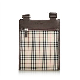 Burberry-Plaid Nylon Crossbody Bag-Brown,Multiple colors,Beige