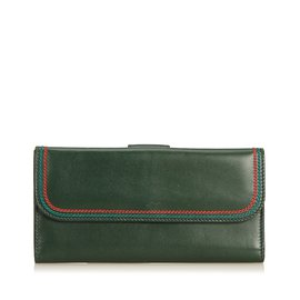 94a5e1568d3d Gucci-Leather Long Wallet-Red,Green,Dark green ...