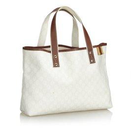 Gucci-Guccissima Tote Bag-Marron,Blanc,Marron clair