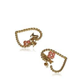 Louis Vuitton-Boucles d'oreilles monogramme doux dans mon coeur-Rose,Doré