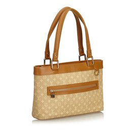 Louis Vuitton-Mini Lin Lucille PM-Marron,Beige