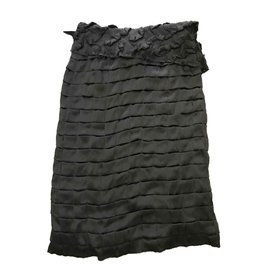 Céline-celine silk skirt black brend new with tag-Black