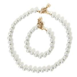 Chanel-grey pearl set-Gris