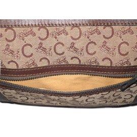 Céline-CELINE vintage sac voyage Boston toile Sulky marron-Marron