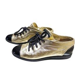 Chanel-Chanel moccasins-Golden