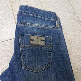 Autre Marque-Jeans Ellisabetta Franchi-Bleu