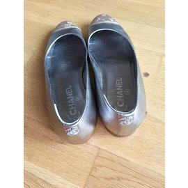 Chanel-Ballet flats Chanel-Silvery