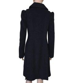 Designers Remix-Manteaux, Vêtements d'extérieur-Noir